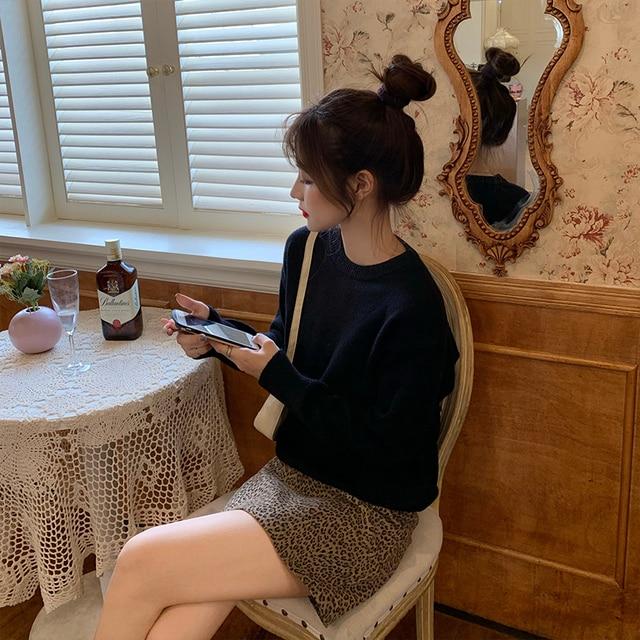 Фото новый повседневный свитер женский пуловер с круглым вырезом цена