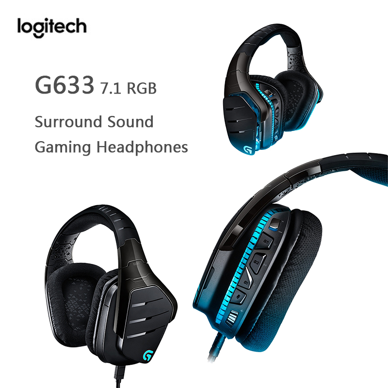 For Mouse Gamer Pubg Lol Overwatch Logitech G633 7 1 Rgb Gaming Headset Surround Sound Gaming Headphones Microphone Head Headphone Headset Aliexpress