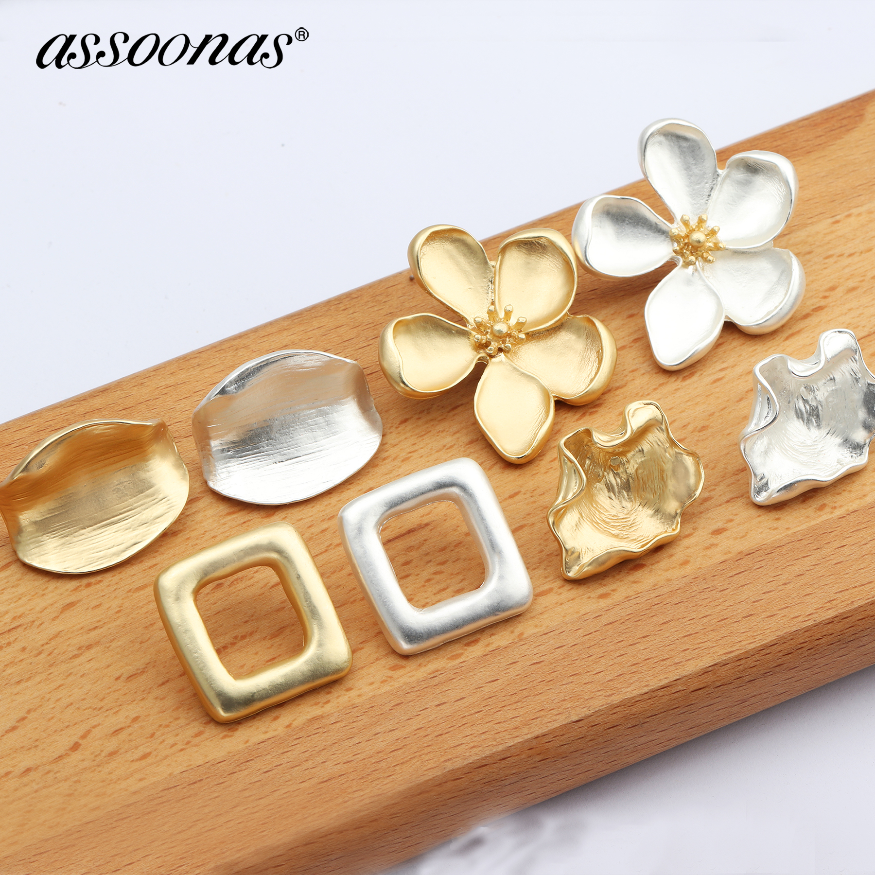 Assoonas Earrings Stud Pendant Jewelry-Accessories Charm Hand-Made M596 10pcs/Lot
