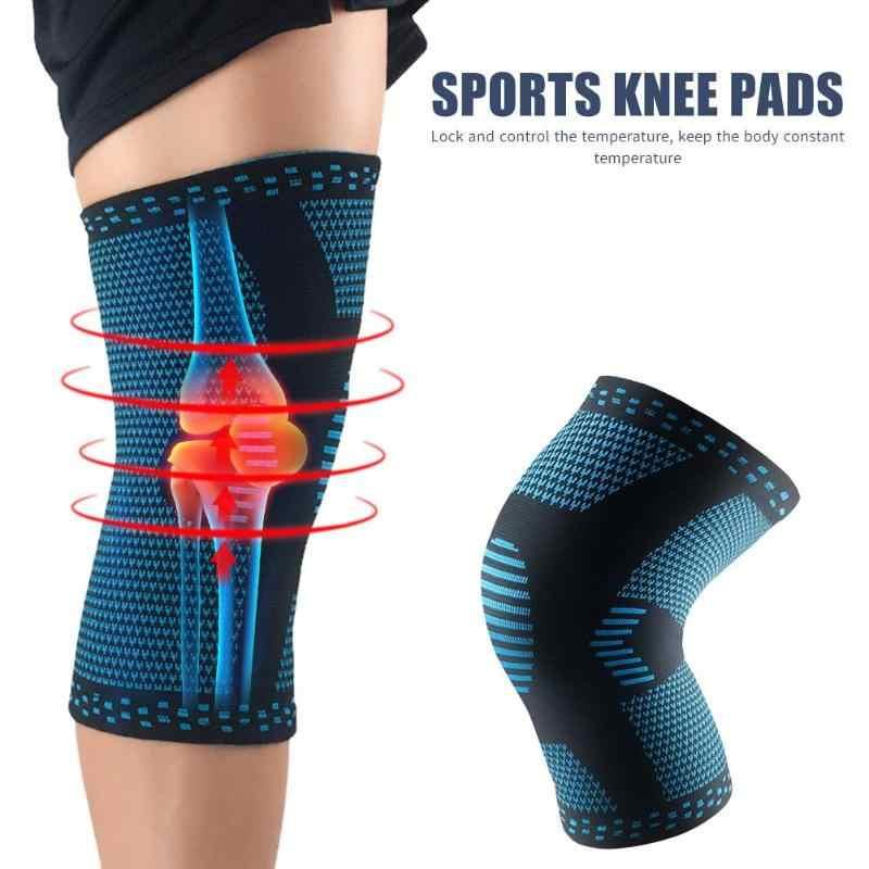 Yumuşak Elastik Diz Bacak Koruyucu Destek Spor Koşu Basketbol Diz Örme Teknolojisi Ince Polyester Elyaf Ped Kol