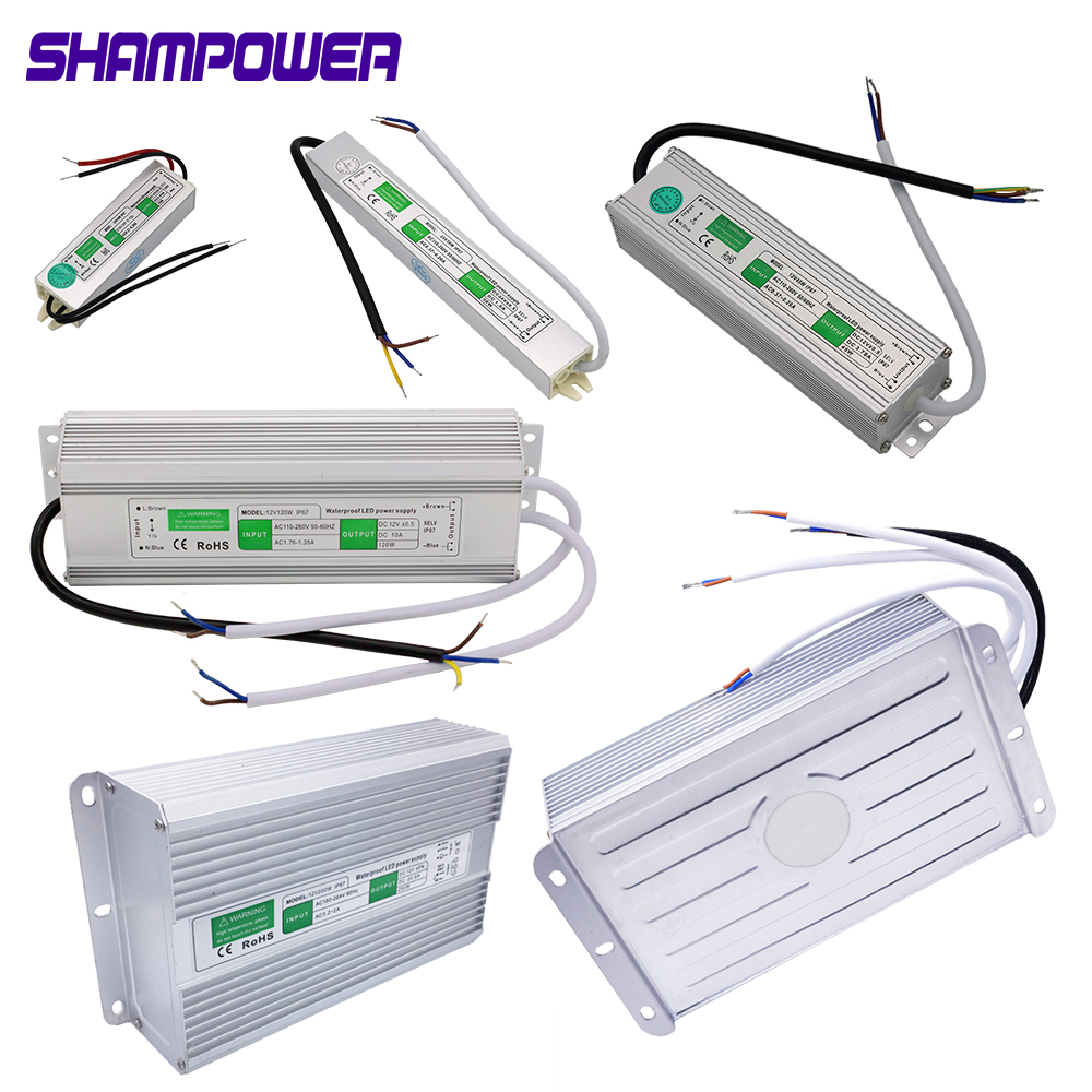 DC 12V 24V Waterproof Power Supply Switching Lighting Transformer 10W 36W 60W 150W 200W 360W 400W IP67 LED Power Adapter Driver image