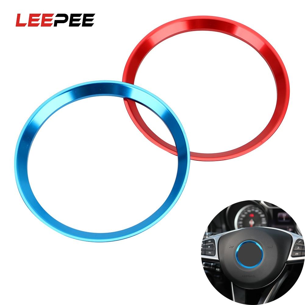 LEEPEE Steering Wheel Ring Trim Self Adhesive Circle Sticker For Mercedes Benz CLA GLK A Class W204 W246 W176 W117 C117