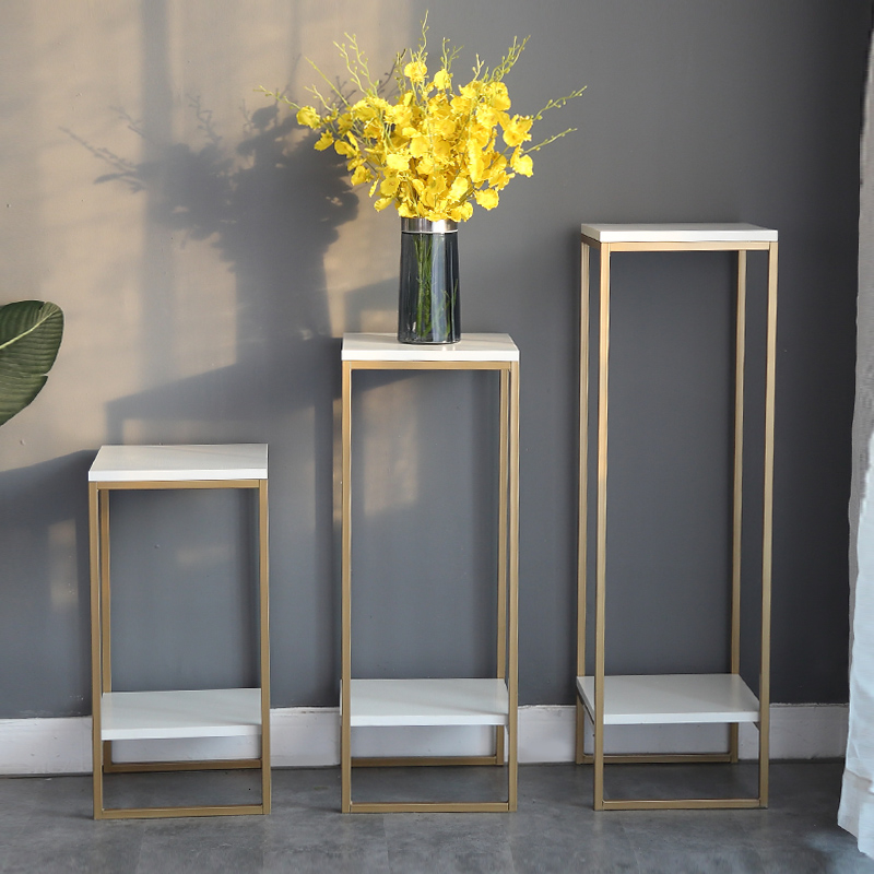 Art Golden Light Extravagant Simplicity Modern A Living Room Indoor Flowerpot Frame Green Luo To Ground Storage Flower Rack