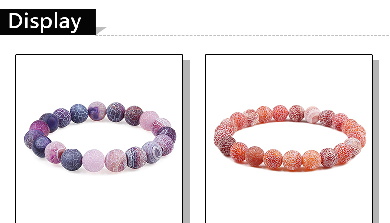 Bracelet pierre naturelle grosse perles | oko oko