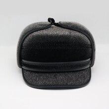 шапка ушанка Мужская осень-зима Bomber Hat Pilot Открытый теплый русский с шляпой для рыбалки