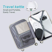 Travel Foldable Electric Kettle Fast Water Boiling Food Grade Silicone Small, Collapsible, Portable Boil Dry Protection