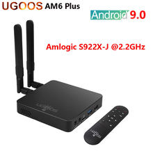 UGOOS AM6 Plus Android 9,0 Dispositivo de Tv inteligente 4GB DDR4 32GB Amlogic S922X-J Set Top Box 2,4G 5G Wifi 1000M LAN 4K reproductor de medios AM6 Pro(China)