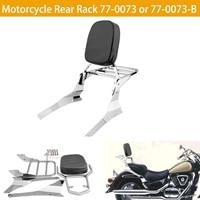 Motorcycle Luggage Rack Rear Passenger Backrest Cushion Pad Black Chrome For Suzuki Intruder / Volusia VL800 VL400 Boulevard C50