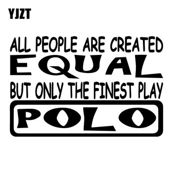 YJZT 17.5CM*11.5CM Polo All People Equal Vinyl Decals Rear Windshield Decoration Car Sticker C31-0493 image
