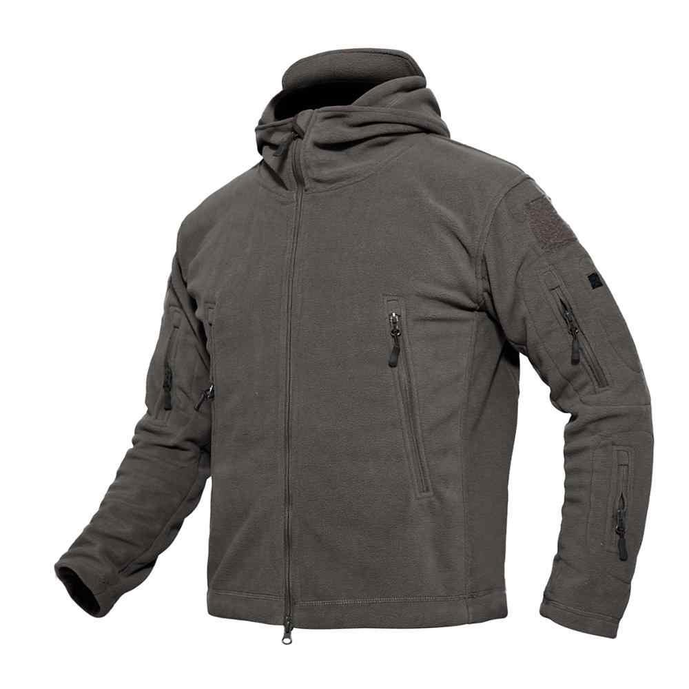 戦術的なフリースのジャケットソフトシェル迷彩防水男軍服ハイキング狩猟熱パーカージャケットアウトドアスポーツ