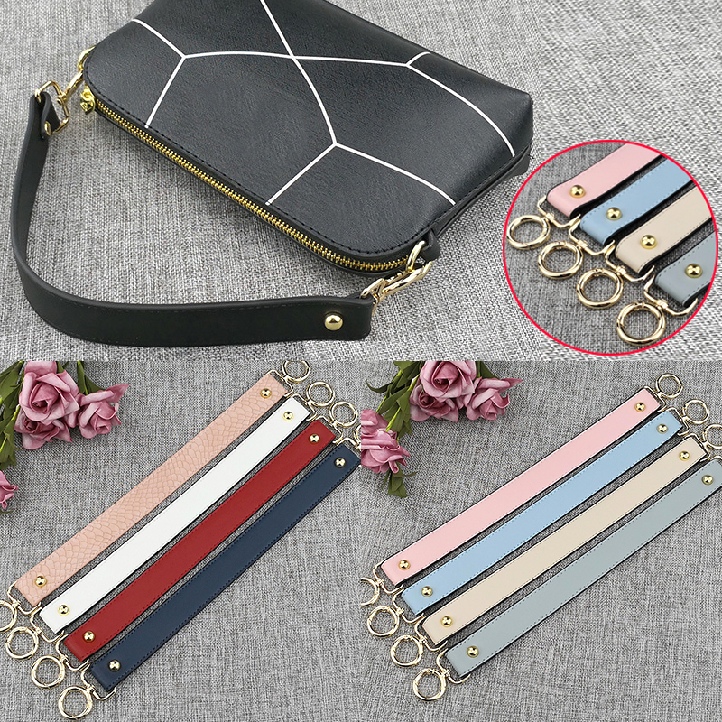 Fashion Replacement Serpentine Straps Colorful PU Leather Handbags Straps Handle Short Belt Accessories For Women Bags 40cm