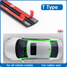 Car Door Seal Strip Edge Sealing Strips Auto Roof Windshield Sealant Protector Seal Strip Sound Insulation Window  Rubber Seals