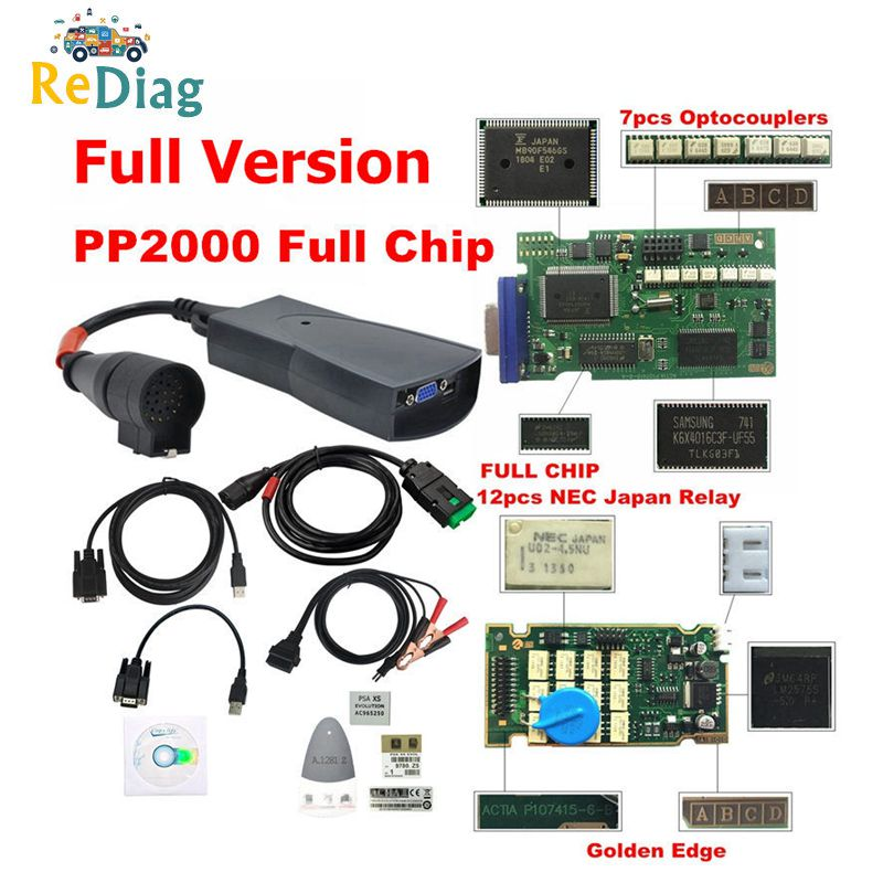 Lexia 3 PP2000 Full Chip Diagbox V8 55 with Firmware 921815C Lexia3 V48 V25 For Citroen for Peugeot OBDII Diagnostic Tool