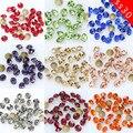 288/36p ss30 круглый цвет заостренный фольгированный обратно Блестящий стеклянный камень дизайн ногтей бриллиант ювелирные изделия бисер крист...