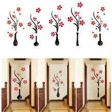 Ваза Слива 3d стикер на стену красочные мульти шт цветок акриловая