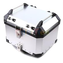 Universal 36L/40L/50L/60L Motorcycle Detachable Rear Storage Box Tail Luggage Trunk Case Toolbox Scooter Motorbike CNC Aluminum customized motorcycle trunk motorbike storage box mould motorcycle tail box top case mold making