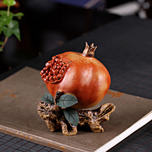 PINNY Purple Clay Pomegranate Tea Pet Ornaments Sculptures Home Decoration Accessories Tabletop Handcrafts Creative Statues