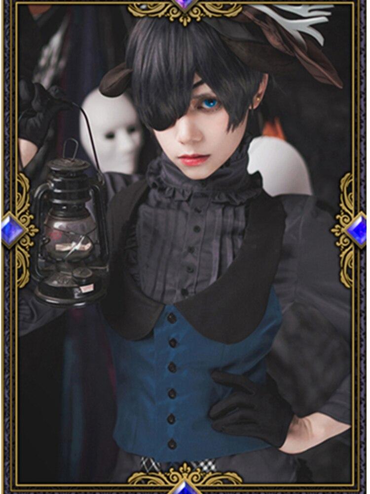 Черный Дворецкий Ciel Phantomhive Хэллоуин маскарадный костюм Kuroshitsuji вечерние костюмы для косплея