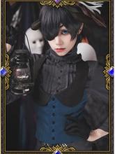 Black Butler Ciel Phantomhive Halloween Cosplay Cotume Kuroshitsuji Party Cosplay Outfit