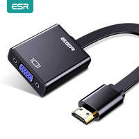 ESR-Cable adaptador de Audio HDMI compatible con VGA, convertidor divisor a VGA, adaptador Digital HD 1080P para proyector