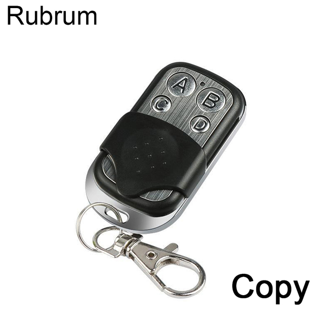 Rubrum 433.92 Mhz מעתק להעתיק מרחוק בקר 433MHZ שלט רחוק שיבוט שיבוט קוד רכב מפתח מוסך שער דלת פותחן