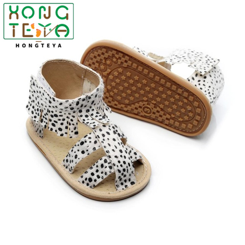 Baby Girl Sandals Summer Pu Leather Baby Girl Moccasins Leopard Newborn Baby Boots Hard Sole Playtoday Beach Sandals
