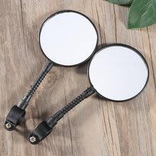 Par de bicicleta flexível espelhos retrovisores ciclismo mtb estrada guiador espelho retrovisor seguro acessórios