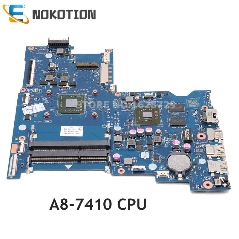 NOKOTION ABL51 LA-C781P 813971-501 813971-001 Main Board For HP 15-AF Laptop Motherboard HD8600 2GB GPU A8-7410 CPU DDR3
