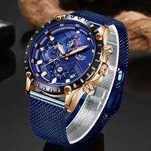 relogio masculino 2019 LIGE New Fashion Hot Mens Watches Top Brand Luxury Waterproof Analog Quartz Watch Men's Sport Chronograph