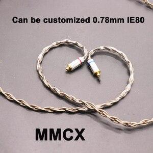 Image 3 - 8 נתח 152 ליבה אחת קריסטל נחושת כסף ציפוי אוזניות שדרוג קו MMCX/0.78/IE80/ QDC/A2DC/IM50