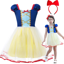 1-6T Ins Hot Childrens summer cotton Girls Snow White princess party cosplay costume Dress toddler kids dresses for girls