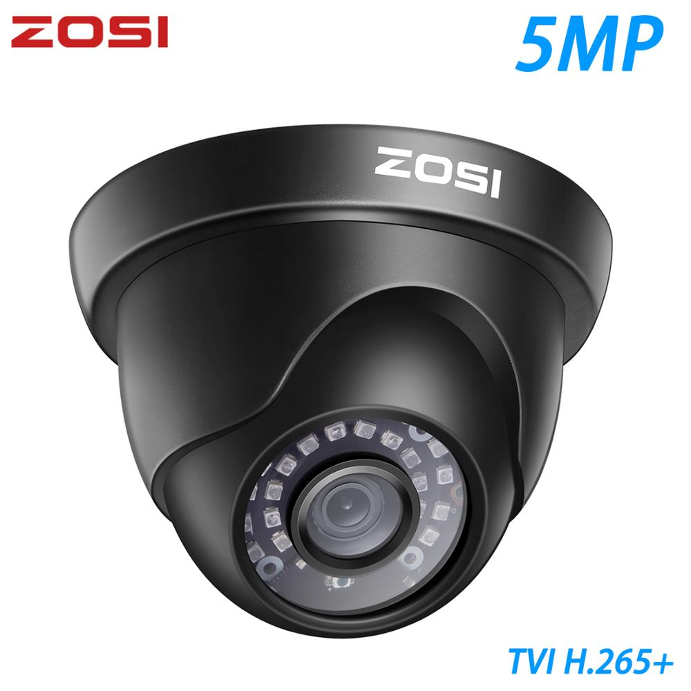 ZOSI 5MP TVI Indoor & Outdoor Dome CCTV Surveillance Security Camera Infrared Night Vision Waterproof IP66
