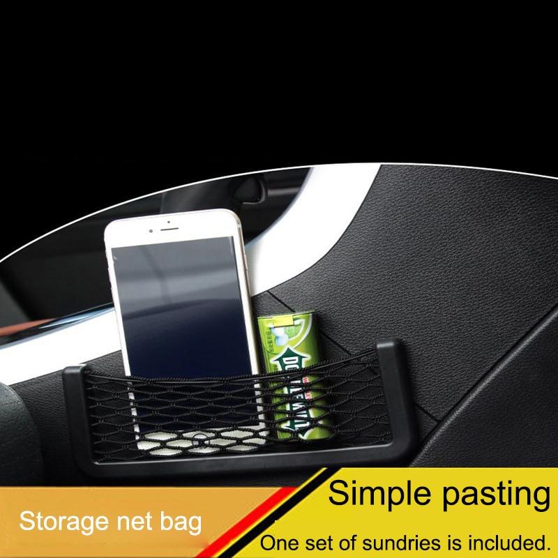 Автомобильная сетчатая карманная Автомобильная сетка для хранения, сумка Автомобильная грузовая сетка для спинки сиденья, сумка для хранения автомобиля, сетка для багажника, автомобильный Органайзер