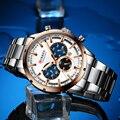 CURREN Роскошные новые мужские часы с ремешком из нержавеющей стали, наручные часы для мужчин, повседневные Модные кварцевые часы, мужские час...