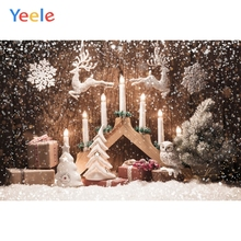 Yeele Christmas Photocall Old Wood Candles Snow Elk Photography Backdrops Personalized Photographic Backgrounds For Photo Studio yeele christmas photocall candy old wood gift decor photography backdrops personalized photographic backgrounds for photo studio