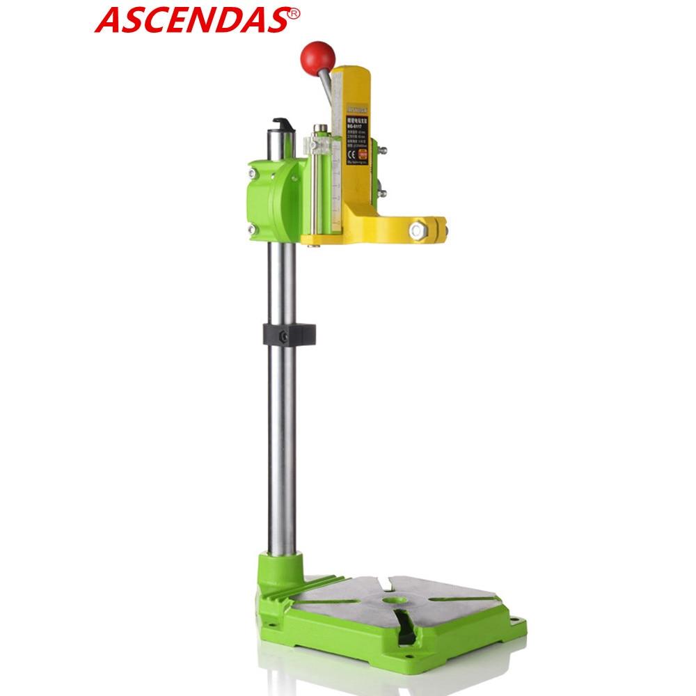 ASCENDAS MINIQ BG6117 Bench Drill Stand/Press Mini Electric Drill Carrier Bracket 90 Degree Rotating Fixed Frame Workbench Clamp