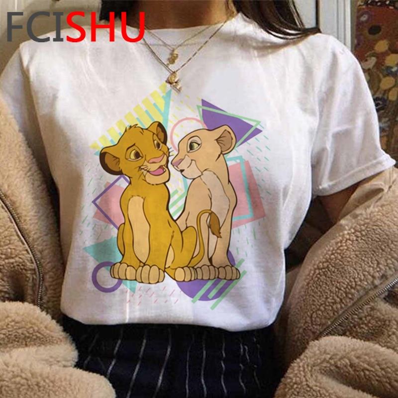 Kawaii Hakuna Matata Anime T-shirt Women Cute Simba Graphic T Shirt Lion King Fashion Plus Size Tshirt Fashion Top Tees Female