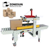 ZONESUN Automatic Carton Sealer Carton Sealing Machine Adhesive Tape Box Case Both Sides of the Conveyor Package Machine