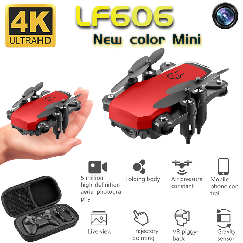 Mini Drone With 4K Camera Hight Hold Mode HD Foldable One-Key Return WIFI FPV With Wide Angle RC Quadcopter Drones Kid's Toys