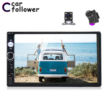 Car Follower Universal 2 Din Car Radio 7 Touch Screen Autoradio Video MP5 Player Auto Stereo Rear View Camera Multimedia Player image