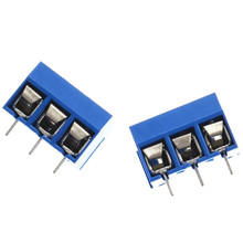 10pcs/lot Blue 5.08-301-3P KF-301-3P Blue Terminal 5mm Spacing Terminal