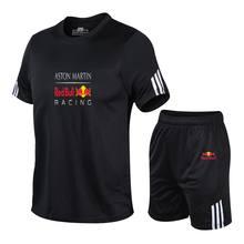 Men Set Brand T-shirt 2 Piece Print Tracksuit Short Sleeve + Pants Pullover Sportswear Casual Suit 2020 New