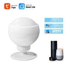 Wi fi pir sensor de movimento sem fio passivo ir detector segurança alarme sensor tuya app controle casa inteligente para alexa google casa