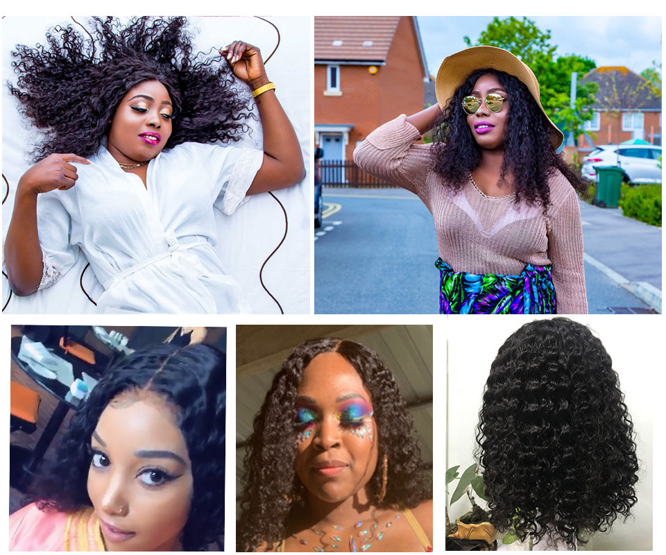 Ha132aad24c244b44b65d2411e16ee7564 Short Bob Water Wave 13x6 Lace Front Wig For Black Women Brazilian Human Remy Natural Curly Hair Hairline Pre Plucked Addbeauty