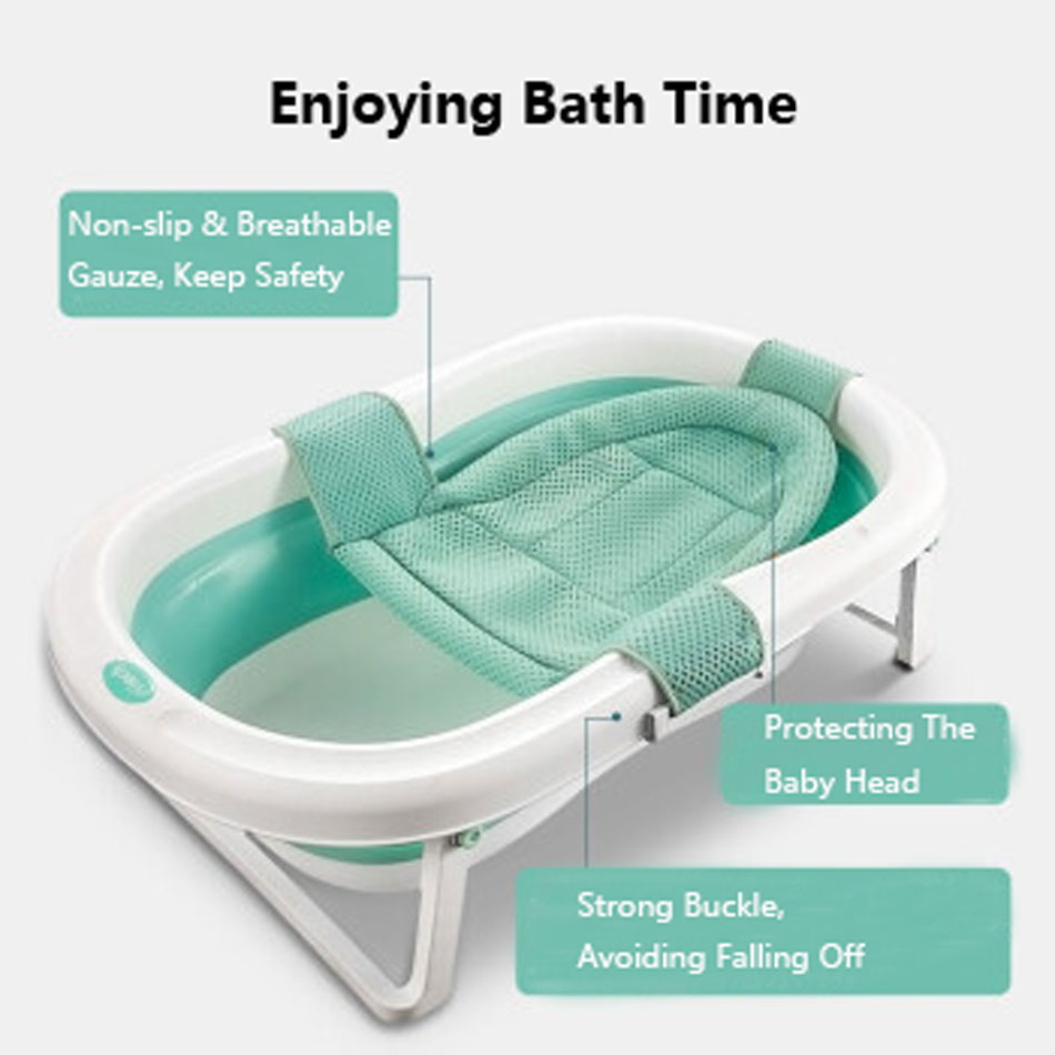 Easy Folding Baby Bath Tub With Non slip Cushion For Safe New Born Baby Bath Tub 2