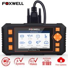 Foxwell NT634 OBD2 스캐너 4 시스템 CVT EPB TPMS DPF 인젝터 오일 재설정 OBD EOBD 자동차 스캐너 자동차 진단 무료 업데이트