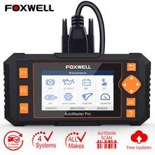 Foxwell NT634 OBD2 Scanner quatre système CVT EPB TPMS DPF injecteur huile réinitialiser OBD EOBD automobile Scanner voiture diagnostic mise à jour gratuite