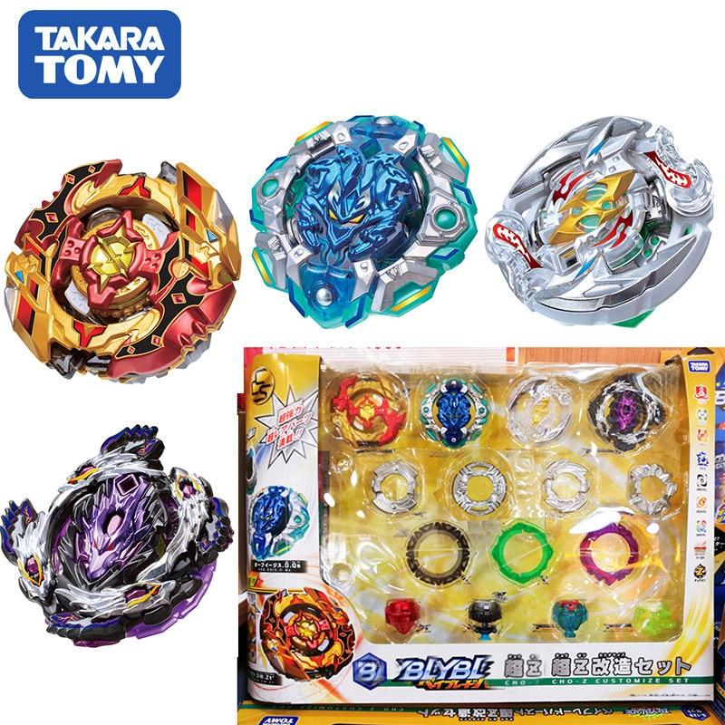 Оригинал TOMY Bayblade Burst B-128 Super Z 4 шт./компл. CHO-Z изменяемый набор Bayblade be blade top spinner Классические игрушки для детей
