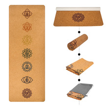 1830 610 1mm yoga mat fitness rubber pad foldable ultra thin non slip portable yoga blankets suede mat towel 1830*680*1mm Natural Cork Yoga Mat Position Line Meditation Printed Non Slip Fitness Exercise Home Mattress Towel Sport Carpet