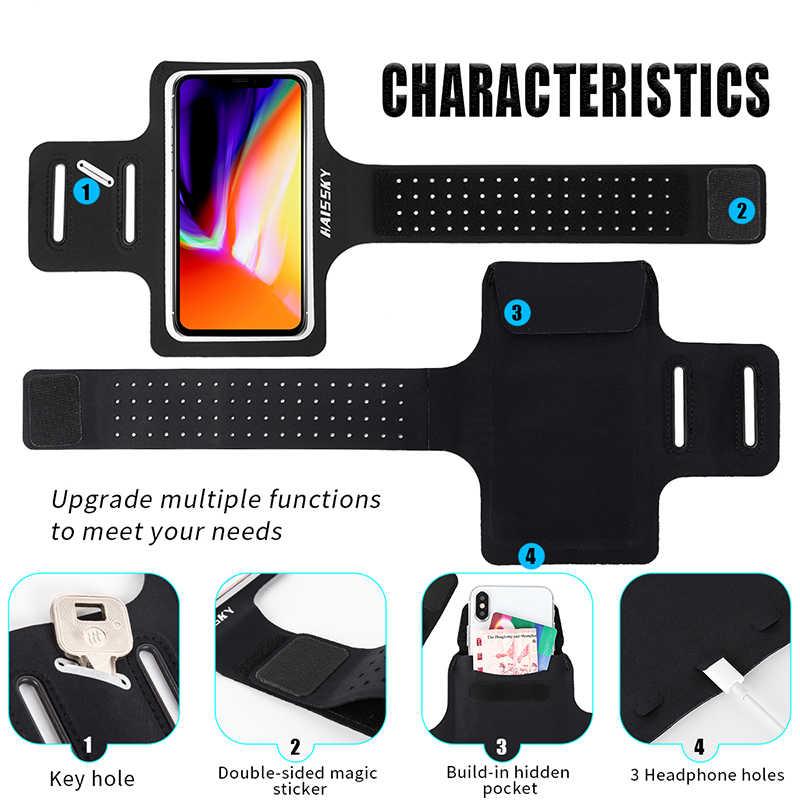 รองเท้าวิ่งกีฬาโทรศัพท์กรณีมือถือผู้ถือArmbandsสำหรับiPhone 11 Pro Max X XS 7 Plus Samsung Note 10 S10 Arm Bandกระเป๋า